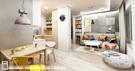 Projekt wnętrz mieszkania w Katowicach, 50m²