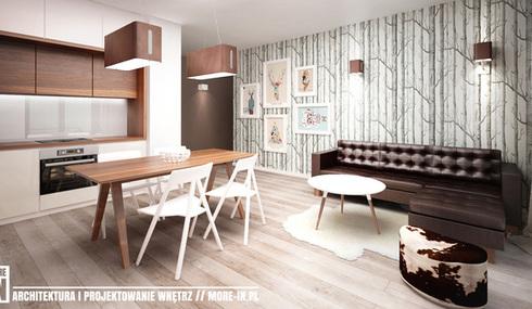 Projekt mieszkania, salon