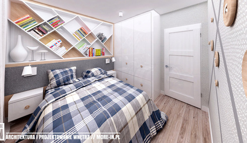 Projekt mieszkania, sypialnia